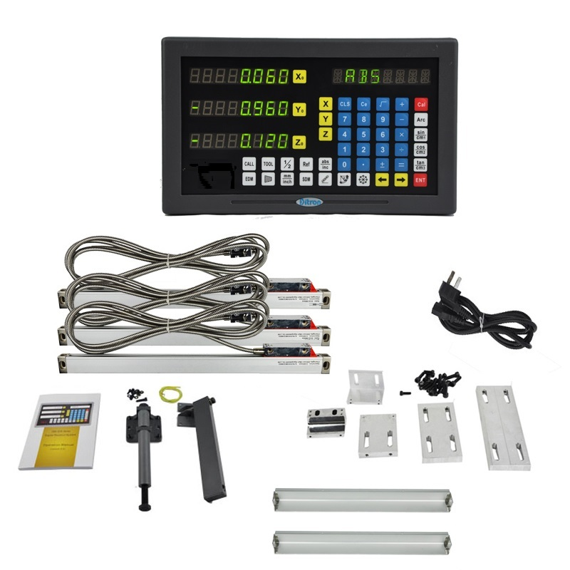 3 axis LED screen multi-functions DRO set for lathe machine