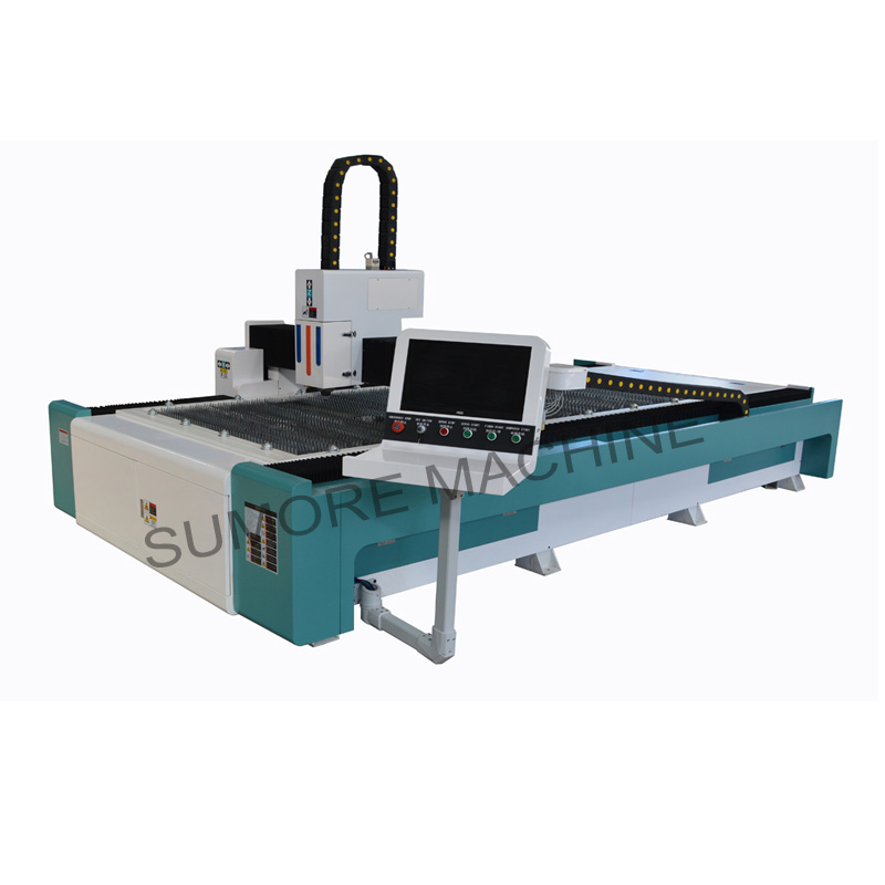 CNC fiber laser cutting machine with table size 1300*3000  SPF1330