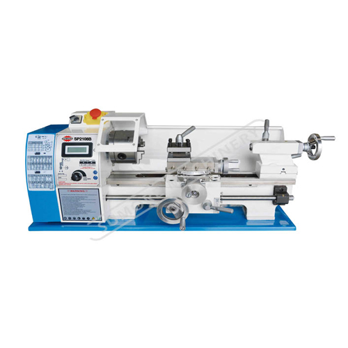 SP2108B Mini bench lathe machine DIY for metal/wood with belt drive